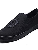 Недорогие -Муж. обувь Ткань Весна Лето Удобная обувь Мокасины и Свитер для Повседневные на открытом воздухе Черный