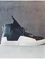 preiswerte -Herrn Schuhe PU Frühling / Herbst Komfort Sneakers Weiß / Schwarz / Rot