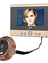 cheap -MOUNTAINONE Wired Photographed Recording 4.5inch Hands-free 480*234*3Pixel One to One video doorphone
