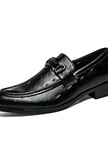 cheap -Men's Shoes Tulle Fall Winter Driving Shoes Loafers & Slip-Ons Buckle for Casual Party & Evening White Black