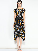 cheap -MARY YAN&YU Women's Cute Street chic Boho A Line Dress - Geometric