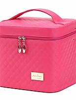 Недорогие -Искусственная кожа Косметичка Молнии для Повседневные Все сезоны Черный Красный Пурпурный Розовый