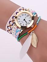baratos -Mulheres Quartzo Bracele Relógio Relógio Casual Chinês Relógio Casual Tecido Banda Casual Fashion Preta Branco Azul Marrom Rosa Fúcsia