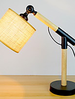Недорогие -Художественный Регулируется Настольная лампа Назначение Дерево / бамбук 220-240Вольт Черный