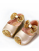 cheap -Girls' Shoes PU Spring Fall Flower Girl Shoes First Walkers Flats for Casual Gold White Pink