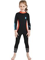 cheap -Girls' Full Wetsuit 2.5mm Spandex / SCR Neoprene Diving Suit / Sun Shirt Anatomic Design, Stretchy, UPF50+ Long Sleeve Back Zipper /