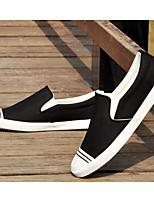 Недорогие -Муж. обувь Полотно Весна Осень Удобная обувь Мокасины и Свитер для Повседневные Черный Серый Красный