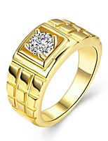 cheap -Men's Band Ring Gold Zircon Copper Gold Plated Circle Cool Rock Daily Work Costume Jewelry