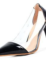 baratos -Mulheres Sapatos Couro Ecológico Verão Conforto Saltos Salto Agulha Dedo Apontado Preto / Vermelho / Rosa claro