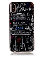 cheap -Case For Apple iPhone X iPhone 8 Ultra-thin Back Cover Word / Phrase Soft TPU for iPhone X iPhone 8 Plus iPhone 8 iPhone 7 Plus iPhone 7
