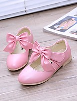cheap -Girls' Shoes PU Spring Fall Flower Girl Shoes Comfort Flats for Casual Gold White Pink