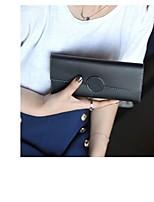 Недорогие -Жен. Мешки PU Бумажники Пуговицы для Повседневные Черный / Розовый / Серый