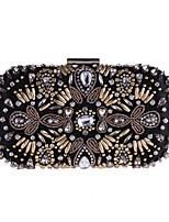 cheap -Women's Bags Terylene Evening Bag Appliques / Crystals for Event / Party Black