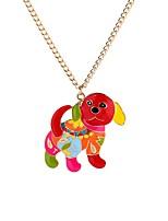 Недорогие -Муж. Собаки Ожерелья с подвесками  -  Животные металлический Милая Цвет радуги 65cm Ожерелье Назначение Официальные Карнавал