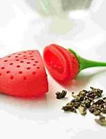cheap -1pc Silica Gel Tea Strainer Cute Creative Kitchen Gadget ,  9*5*1.6cm