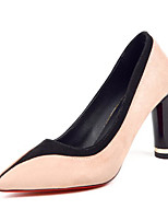 cheap -Women's Shoes Nubuck leather Spring / Fall Comfort / Basic Pump Heels Stiletto Heel Red / Pink / Dark Green