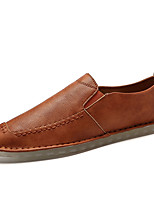 cheap -Men's Shoes Leatherette Spring Summer Comfort Loafers & Slip-Ons Animal Print for Casual Black Brown Khaki