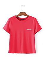preiswerte -Damen Solide-Street Schick T-shirt