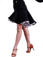abordables -Danse latine Tutus & Jupes Femme Entraînement Organza Soie Glacée Ruché Taille moyenne Jupes