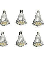 abordables -6pcs 5W 380-420lm E14 Spot LED 16 Perles LED SMD 5630 Décorative Blanc Chaud 85-265V
