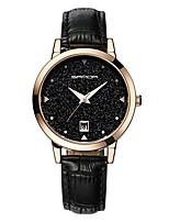 Недорогие -Жен. Кварцевый Модные часы Японский Календарь Защита от влаги Натуральная кожа Группа На каждый день Черный Синий Красный