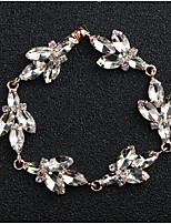 cheap -Women's Crystal Floral 1pc Bracelet - Floral Fashion European Drop Gold Silver Bracelet For Wedding Daily