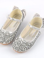 cheap -Girls' Shoes Paillette / PU Spring / Fall Flower Girl Shoes / Comfort Flats for Casual / Party & Evening Gold / Silver / Pink