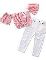 Недорогие -Дети Дети (1-3 лет) Девочки Полоски С короткими рукавами Набор одежды