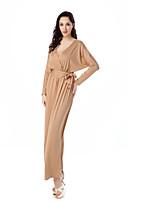 Недорогие -Жен. Классический Богемный Кафтан Платье - Однотонный Макси