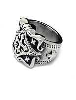 cheap -Men's Band Ring - Cross Vintage Silver Ring For Daily