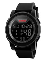 baratos -SKMEI Homens Digital Relogio digital Relógio de Moda Relógio Esportivo Calendário Impermeável Mostrador Grande Cronômetro LCD Borracha