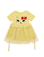 cheap -Girls' Solid Colored Short Sleeves Dress