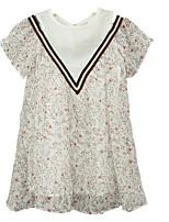 Недорогие -Дети Девочки Гусиная лапка С короткими рукавами Платье