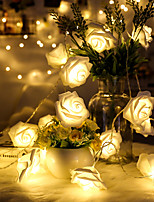 cheap -1.5m String Lights 10pcs LEDs Warm White Decorative AA Batteries Powered 1pc