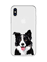 abordables -Funda Para Apple iPhone X iPhone 8 Plus Diseños Funda Trasera Perro Caricatura Animal Suave TPU para iPhone X iPhone 8 Plus iPhone 8