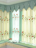 cheap -Curtains Drapes Living Room Floral Cotton / Polyester Jacquard
