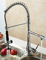 cheap -Kitchen faucet - Contemporary Chrome Pull-out / ­Pull-down Vessel