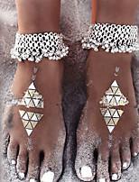 Недорогие -Жен. Ножной браслет - Бикини, Мода Бижутерия Серебряный Назначение Повседневные Бикини