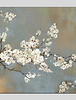 cheap -Oil Painting Hand Painted - Floral/Botanical Modern