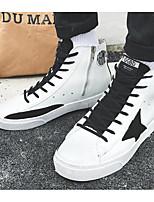abordables -Homme Chaussures PU de microfibre synthétique Automne / Hiver Confort Basket Noir / Noir / blanc / Blanc / argent