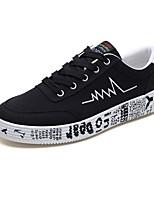 baratos -Homens sapatos Lona Primavera Outono Solados com Luzes Tênis para Casual Cinzento Branco/Preto Preto/Vermelho