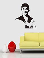 baratos -Decalque Autocolantes de Parede Decorativos - Adesivos de parede de pessoas Famoso Reposicionável Removível