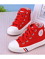 cheap -Girls' Boys' Shoes Canvas Spring Fall Comfort Sneakers for Casual Black Dark Blue Red