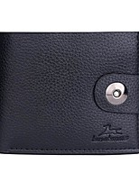 cheap -Men's Bags PU Leather / Polyurethane Leather Wallet Buttons Black / Coffee / Dark Brown