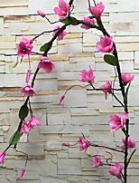abordables -Fleurs artificielles 1 Une succursale Luxe / Européen Orchidées Guirlande et Fleur Murale