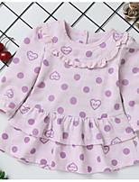 cheap -Toddler Girls' Polka Dot Long Sleeves Dress
