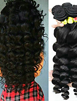 cheap -Malaysian Hair Wavy Human Hair Weaves 6-Pack Soft 100% Virgin High Quality Hot Sale Best Quality Natural Color Hair Weaves Human Hair
