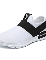 preiswerte -Herrn Gestrickt / Gitter Frühling Sommer Komfort Sneakers Weiß / Schwarz / Grau