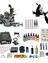 cheap -Tattoo Machine Starter Kit Variable Speeds LCD power supply 1 x aluminum grip 1 x alloy grip 50pcs pcs Tattoo Needles Artistic / Retro