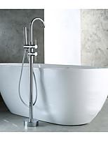 cheap -Bathtub Faucet - Contemporary Chrome Floor Mounted Ceramic Valve